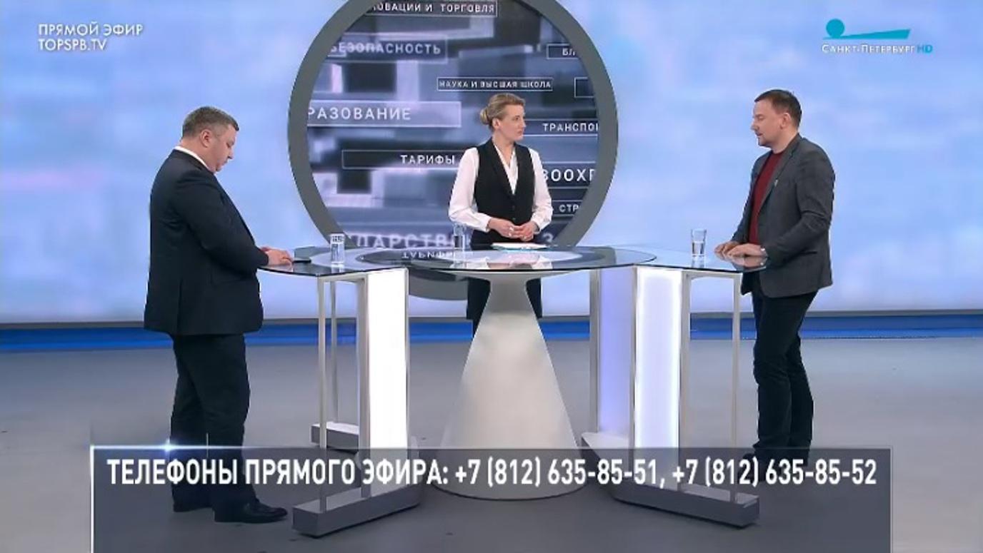 12 апреля в студии телеканала прошел прямой эфир программы «Петербург – город решений», участие в котором принял, в том числе, директор института аэрокосмических приборов и систем ГУАП Николай Майоров.